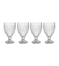 Fitz and Floyd® Trestle Set of 4 Clear Goblets