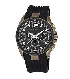 Vince Camuto™ Men's Khaki Chronograph Rubber Strap Watch
