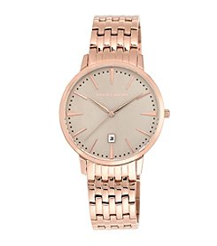 Vince Camuto™ Men's Rose Goldtone Bracelet Watch with a Rose Glossy Dial