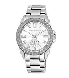Vince Camuto™ Women's Silvertone Watch with Pyramid Bezel