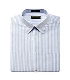 John Bartlett Statements Men's Stripe Oxford Dress Shirt