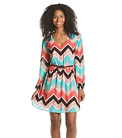 Sequin Hearts® Chevron Dress