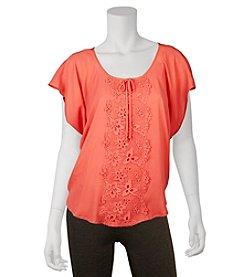 A. Byer Lace Flutter Shirt