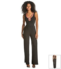 XOXO® Embroidered Jumpsuit