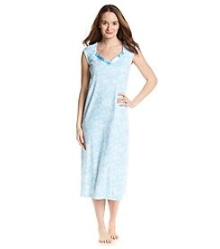 KN Karen Neuburger Satin Trim Sleep Gown