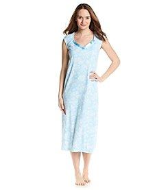 KN Karen Neuburger Satin Trim Sleep Gown