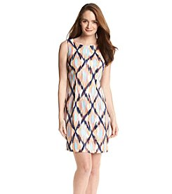 AGB® Blurry Print Sheath Dress