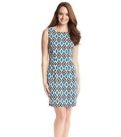 AGB® Geo Print Prada Sheath Dress