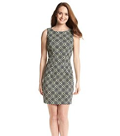 AGB® Abstract Printed Sheath Dress