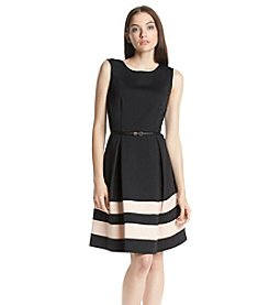 Calvin Klein Ponte Fit And Flare Dress