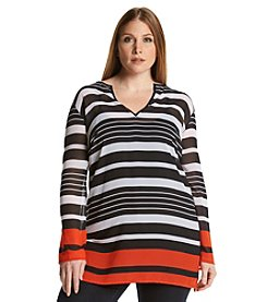 MICHAEL Michael Kors® Plus Size Stripe Tunic
