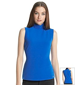 Calvin Klein Back Zip Sleeveless Top
