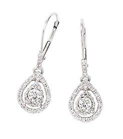 0.33 ct. t.w. Diamond Drop Earrings in 10K White Gold