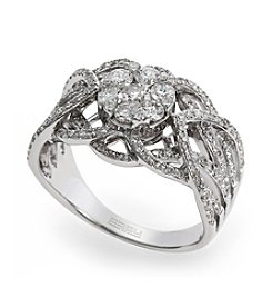 Effy® 0.98 ct. t.w. Diamond Ring in White Gold