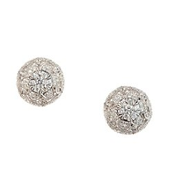 Effy® 0.54 ct. t.w. Diamond Cluster Earrings in White Gold