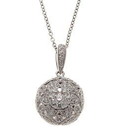 Effy® 0.29 ct. t.w. Diamond Cluster Pendant in White Gold