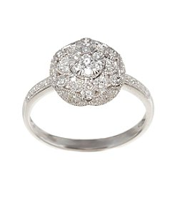 Effy® 0.28 ct. t.w. Diamond Cluster Ring in White Gold
