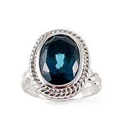 Sterling Silver London Blue Topaz Oval Ring