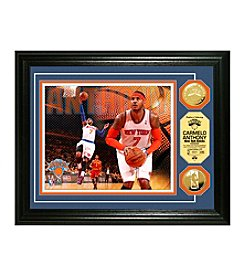 NBA® NY Knicks Carmelo Anthony Gold Coin Photo Mint