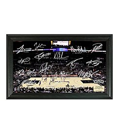 NBA® San Antonio Spurs Court Photo with Team Signatures