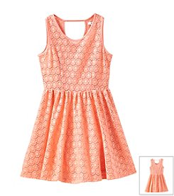 DKNY® Girls' 7-16 Lace Dress