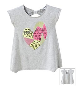 DKNY® Girls' 7-16 Short Sleeve Studded Heart Tee