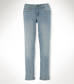 Ralph Lauren Childrenswear Girls' 7-16 Barbette Wash Skinny Denim Jeans
