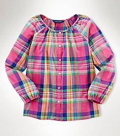 Ralph Lauren Childrenswear Girls' 7-16 Multi Plaid Shirt