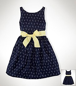 Ralph Lauren Childrenswear Girls' 7-16 Multi Twill Dress