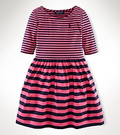 Ralph Lauren Childrenswear Girls' 7-16 Striped Knit Dress