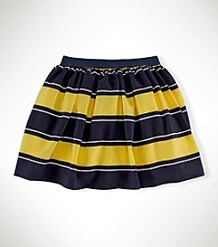 Ralph Lauren Childrenswear Girls' 7-16 Striped Crepe Skirt