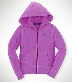 Ralph Lauren Childrenswear Girls' 7-16 Full Zip Fleece