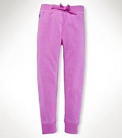 Ralph Lauren Childrenswear Girls' 7-16 Fleece Pants