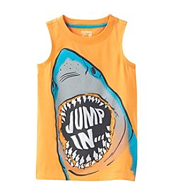 Ruff Hewn Mix & Match Boys' 2T-7 Jump In Shark Graphic Muscle Tee
