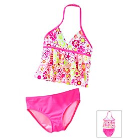 Little Miss Attitude Girls' 2T-6X 2-Piece Printed Tankini