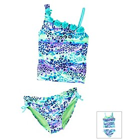 Mambo® Girls' 7-16 Leopard Print Tankini