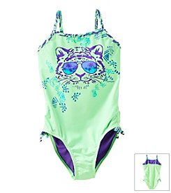Mambo® Girls' 7-16 Hear Me Roar One Piece Swimsuit