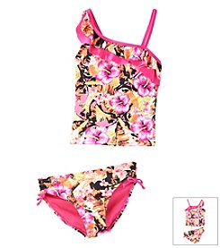 Mambo® Girls' 7-16 Palm Sketch Tankini