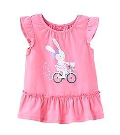 Cuddle Bear® Mix & Match Baby Girls' 3M-2T Bunny Bike Flutter Sleeve Peplum