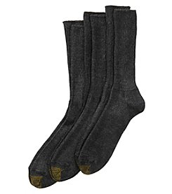 GOLD TOE® Men's 3 Pair Fluffies Sock