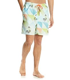 Tommy Bahama® Men's Patchwork Palm Swim Trunk