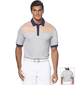 Callaway® Men's Heathered High Shoulder Print Polo