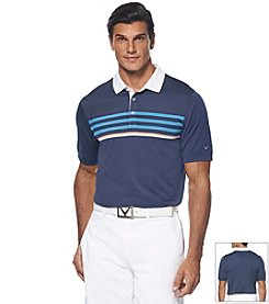 Callaway® Men's Big & Tall Striped Chest Polo