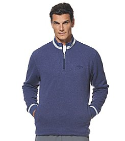 Callaway® Men's 1/4 Zip Heathered Tech Fleece Sweater
