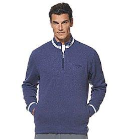 Callaway® Men's 1/4 Zip Heathered Tech Fleece Sweater