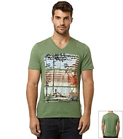 Buffalo by David Bitton Men's Trail Short Sleeve Graphic Jersey Tee