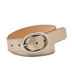 Fossil® Metallic Oval Buckle Belt