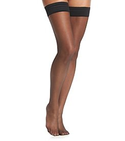 Calvin Klein Sheer Thigh High Hosiery - Black