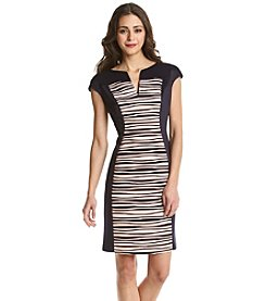 Connected® Petites' Scuba Panel Dress