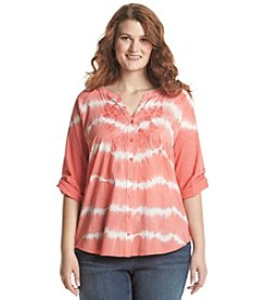 Gloria Vanderbilt® Plus Size Raina Tie Dye Top